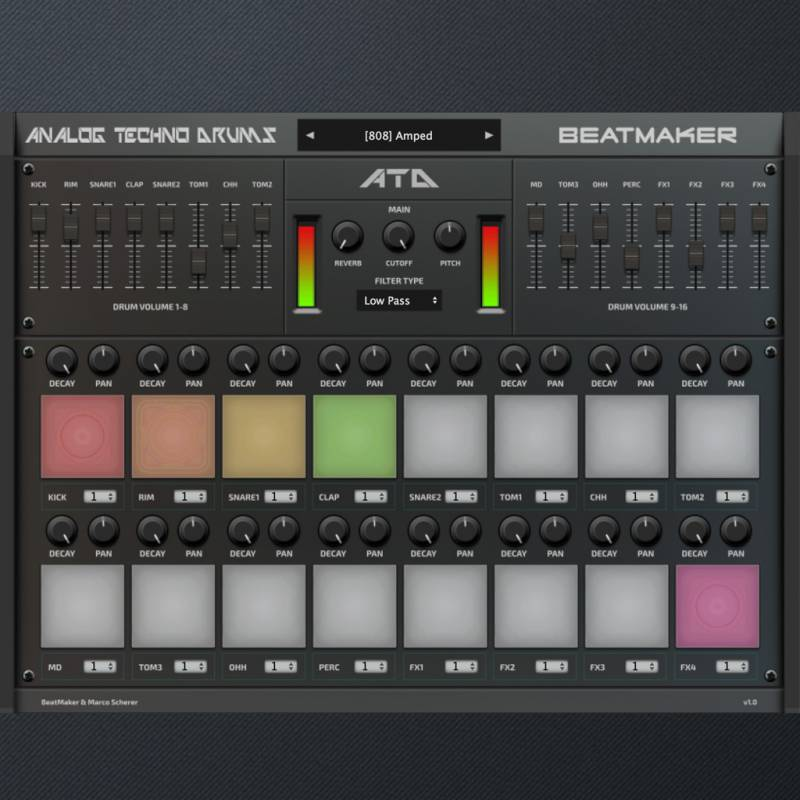 Analog Techno Drums (VST/AU plugin)